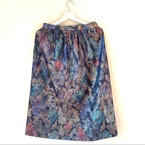 Vintage metallic midi skirt